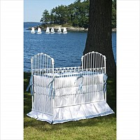 Crib - 'Essex' Iron Vintage Baby Crib