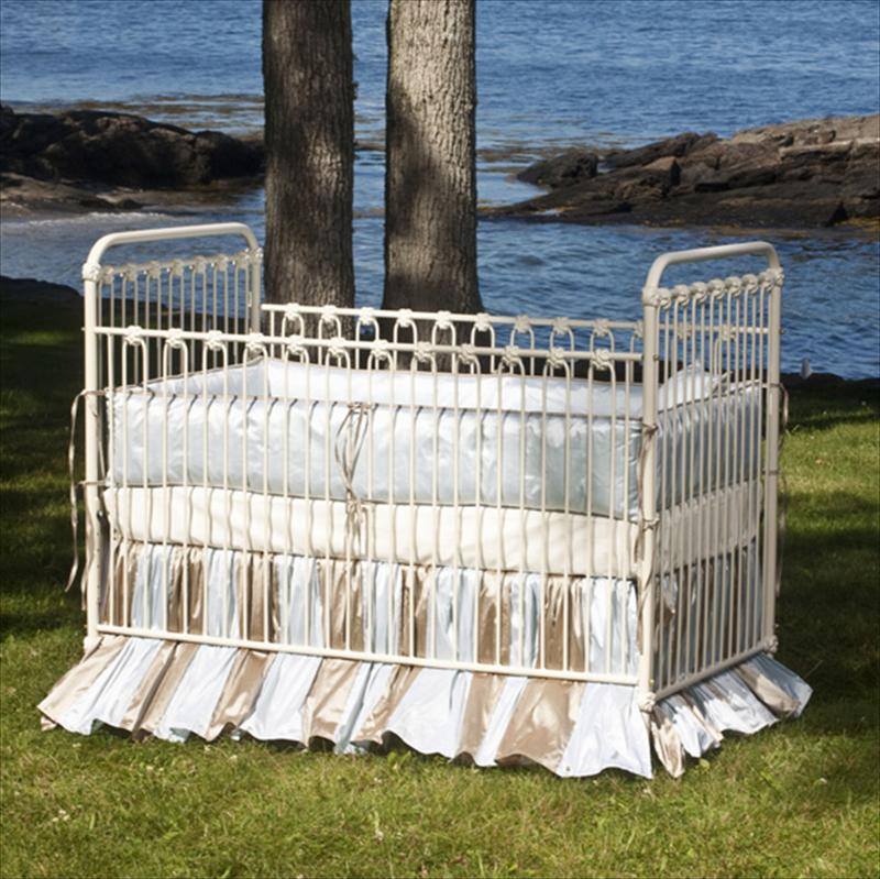 Crib - 'Whitby' Iron Vintage Baby Crib
