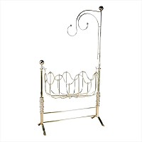 Elegant Brass Vintage Baby Cradle