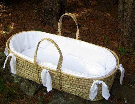 Laundered Linen Moses Baskets