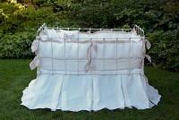 Laundered Linen Crib Linens