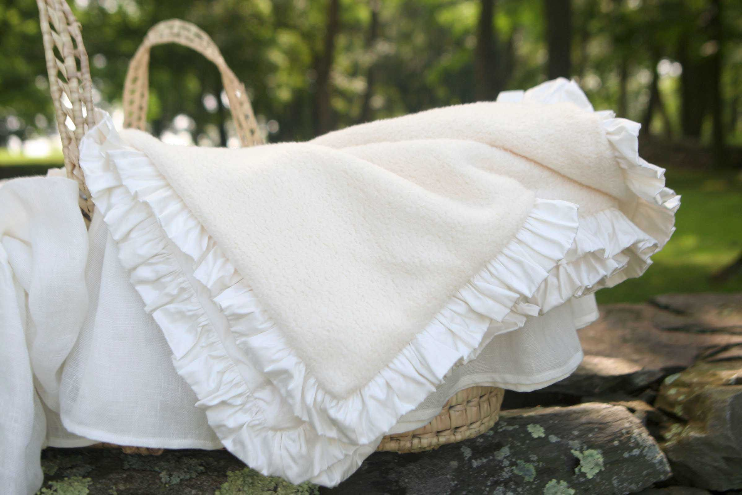 Vintage Luxury Baby Receiving Blankets