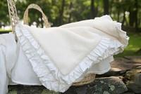 Vintage Luxury Baby Receiving Blankets