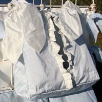 Laundered Linen Diaper Stacker