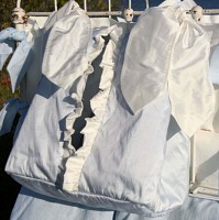 Cotton/Linen Diaper Stacker