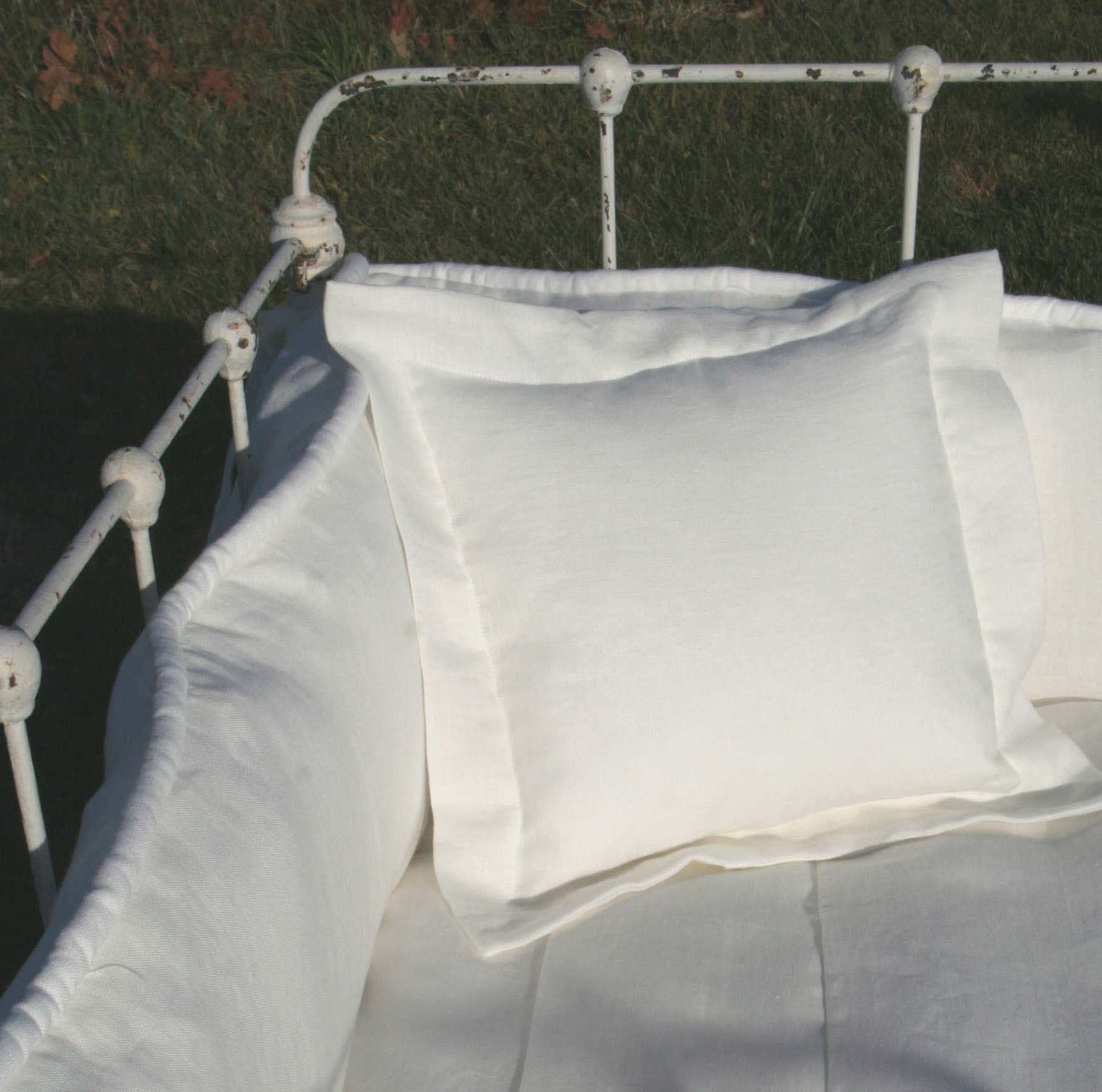 Laundered Linen Flanged Pillow