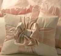 Laundered Linen Gift Bow Pillow
