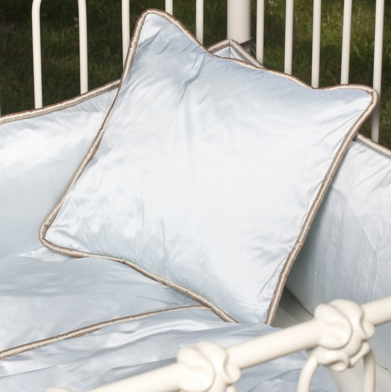 Dupioni Silk Piped Pillow