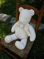 Laundered Linen Teddy Bear