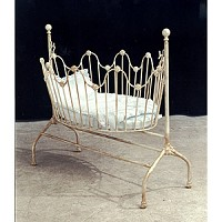 Maggie Iron Vintage Baby Cradle