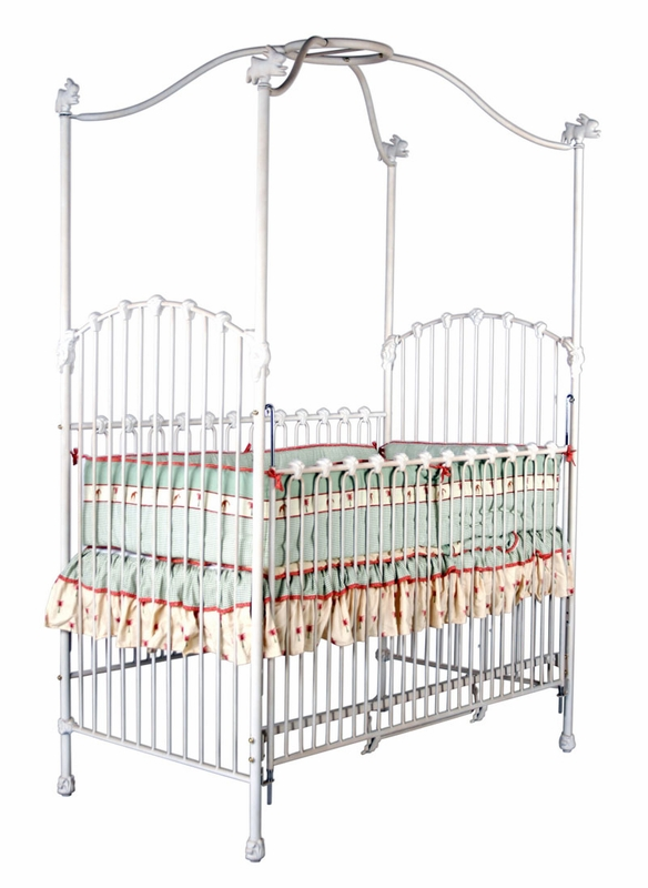 Pretty Iron Canopy Vintage Baby Crib