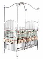 Pretty Iron Canopy Vintage Baby Crib