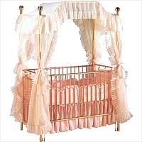 Brass Canopy Vintage Baby Crib