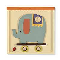 Esther the Elephant Shadowbox Wall Art