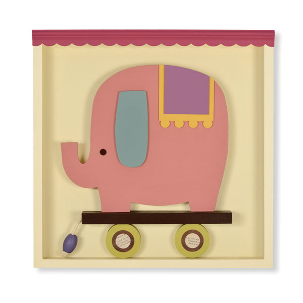 Erin the Elephant Shadowbox Wall Art