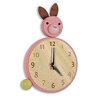 Hop To It Bunny Clock
