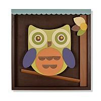 Walter the Owl Shadowbox Wall Art
