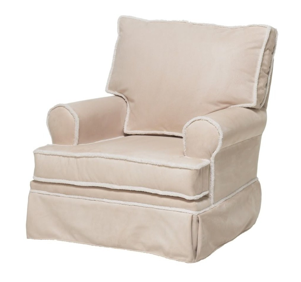 Ancientz Square Back Glider Beige Micro with Sherpa