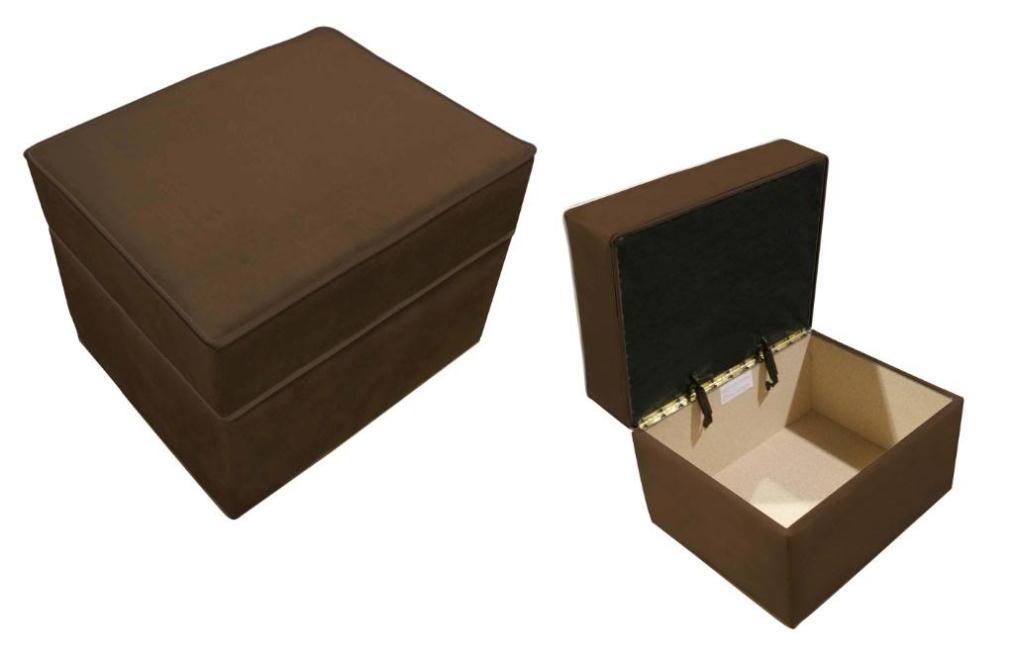 Ancientz  Storage Ottoman Chocolate Micro