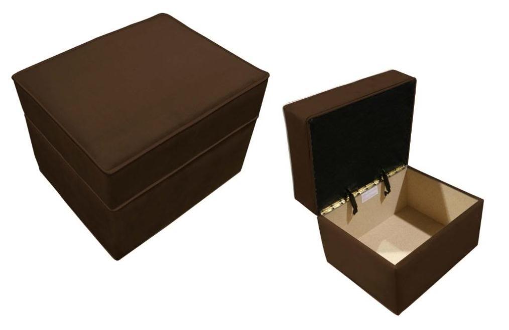 Ancientz Storage Ottoman Chocolate Bella Velvet