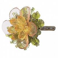 CherishDay Green Beaded Flower