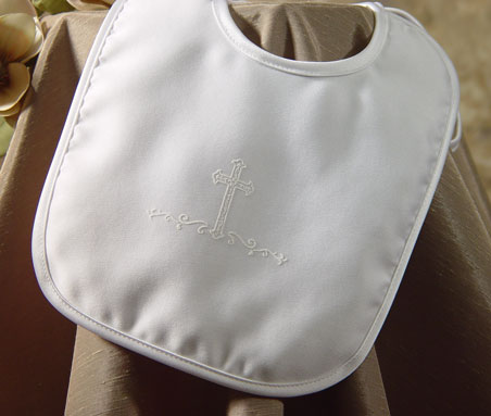 SoDainty Boys Satin Screened Cross Bib