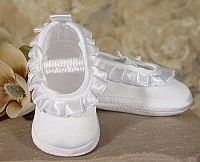 SoDainty Girls Satin Shoe with Ribbon