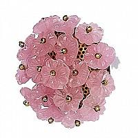 CherishDay Flower Beads Opaque Pink