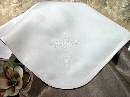 SoDainty Dupioni Silk Christening Blanket