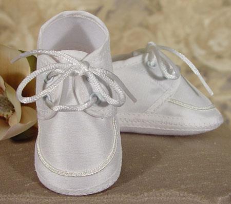 SoDainty Silk Oxford Christening Shoe