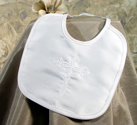 SoDainty Silk Embroidered Cross Bib