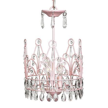 CherishDay Crown Chandelier Pink