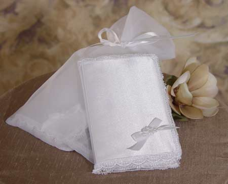 SoDainty Satin Covered Bible & Organza Bag
