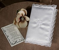 SoDainty Satin Covered Bible with Cross