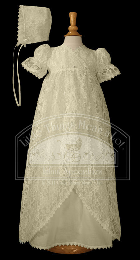 SoDainty Ecru Lace Jacketed Gown