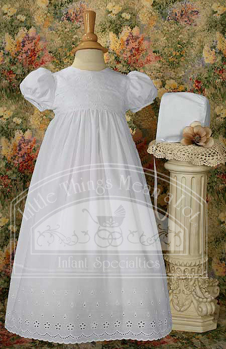 SoDainty Floral Eyelet Cotton Gown