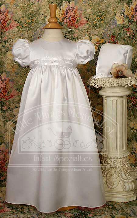 SoDainty Matte Satin Rosette Trim Gown