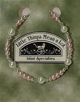 SoDainty Pearl & Pink Silver Bracelet