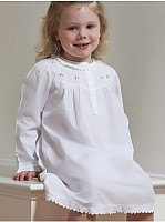 Capistrano Long Sleeve Pink Rosebuds Cotton Dress