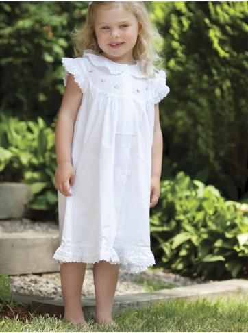 Capistrano Ruffled Pink Rosebud Cotton Dress