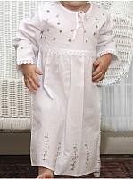 Capistrano Long Sleeve Flowered Cotton Dress