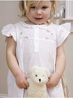 Capistrano Ruffled Daises & Butterflies Cotton Dress