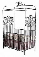 Iron Canopy Vintage Baby Crib