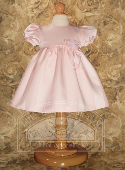 SoDainty Pink Striped Satin Dress
