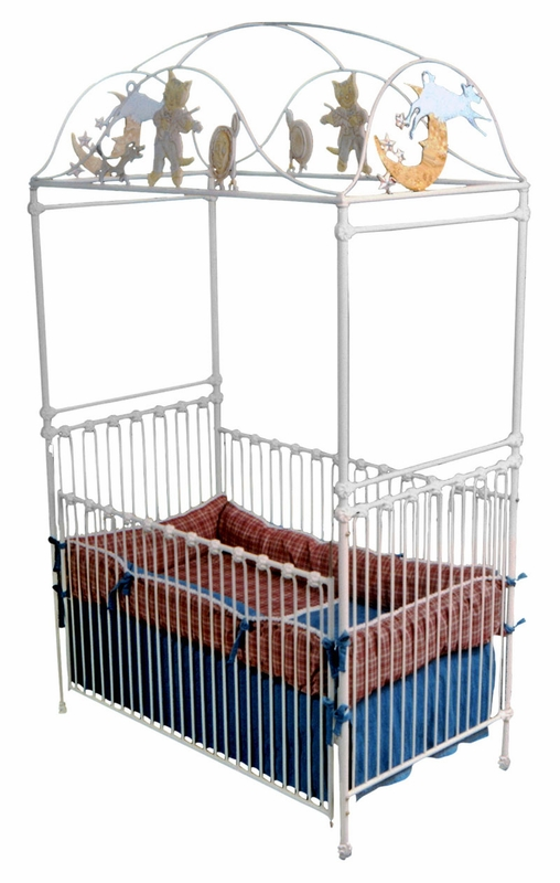 Cat & Fiddle Iron Vintage Baby Crib
