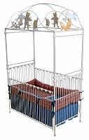 Cat & Fiddle Iron Vintage Baby Crib