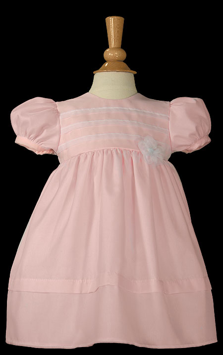 SoDainty Pink Organza Overlay Dress