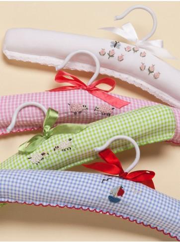 Capistrano Gingham & Percale Baby Hangers