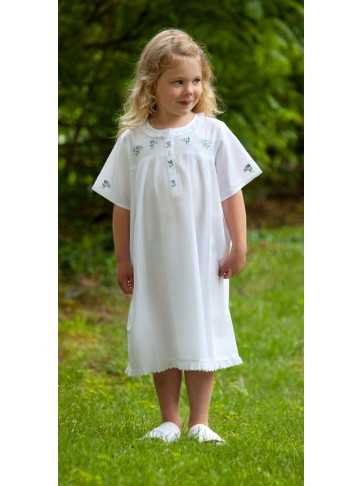 Capistrano Short Sleeve Three Button Cotton Dress