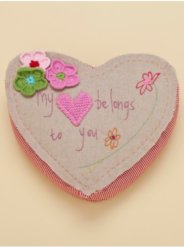 Capistrano Crochet Pattern Heart Pillow
